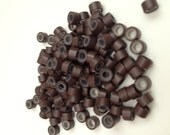 20 medium brown Silicone Microbeads Micro Beads Microlinks Hair Feather Extensions beads