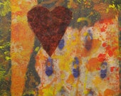 Heart Series No. 6      Original 8x10 Mixed Media on Canvas - lorrainechapmanart