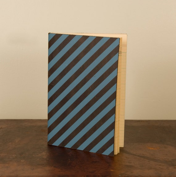 "6 x 9"" - Striped Leather Blank Book"