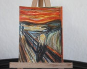 ACEO Original Watercolor Scream in the style of Munch not a print, by Caroline