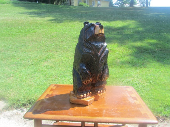 Chainsaw Carving Small Cherry Bear