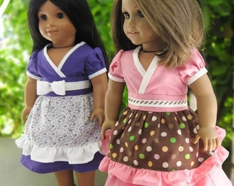Kimono Dress:  PDF Sewing Pattern for 18 inch doll (like American Girl Doll)