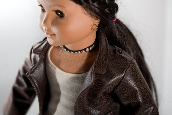 Leather Jacket for American Girl Doll or similar 18-inch Doll