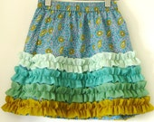 SALE-Boutique 'SEA WEED' bubble skirt-girls 5-Ready to ship