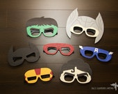Superhero Themed Party Photobooth Decoration Props