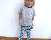 COOL  MINT eco friendly.  Bamboo fiber/Organic cotton Leggings for KIDS  4/5 or 6/7