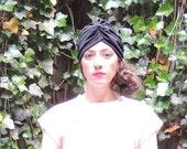 Black Flapper Hat Polyester