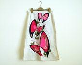 1960s Alfred Shaheen Butterfly Design Screen Print Summer Skirt S