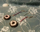 Mini Bagels with Cream Cheese Earring Set