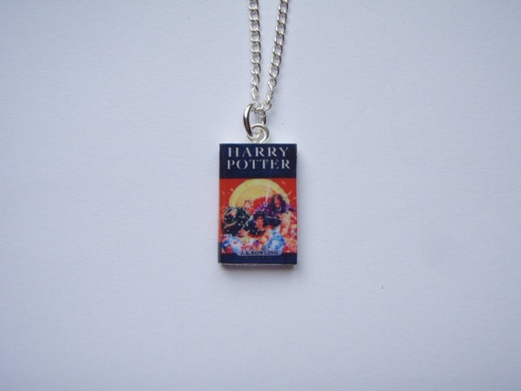 UK Harry Potter Inspired Miniature Book Pendant Necklace - HP and the Deathly Hallows