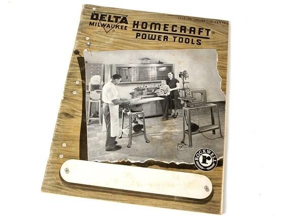 Vintage 35 page Delta Milwaukee HomeCraft Power Tools catalog HC-52 w/price list