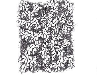 Printable Zentangle Inspired Art- Abstract Drawing Zendoodle