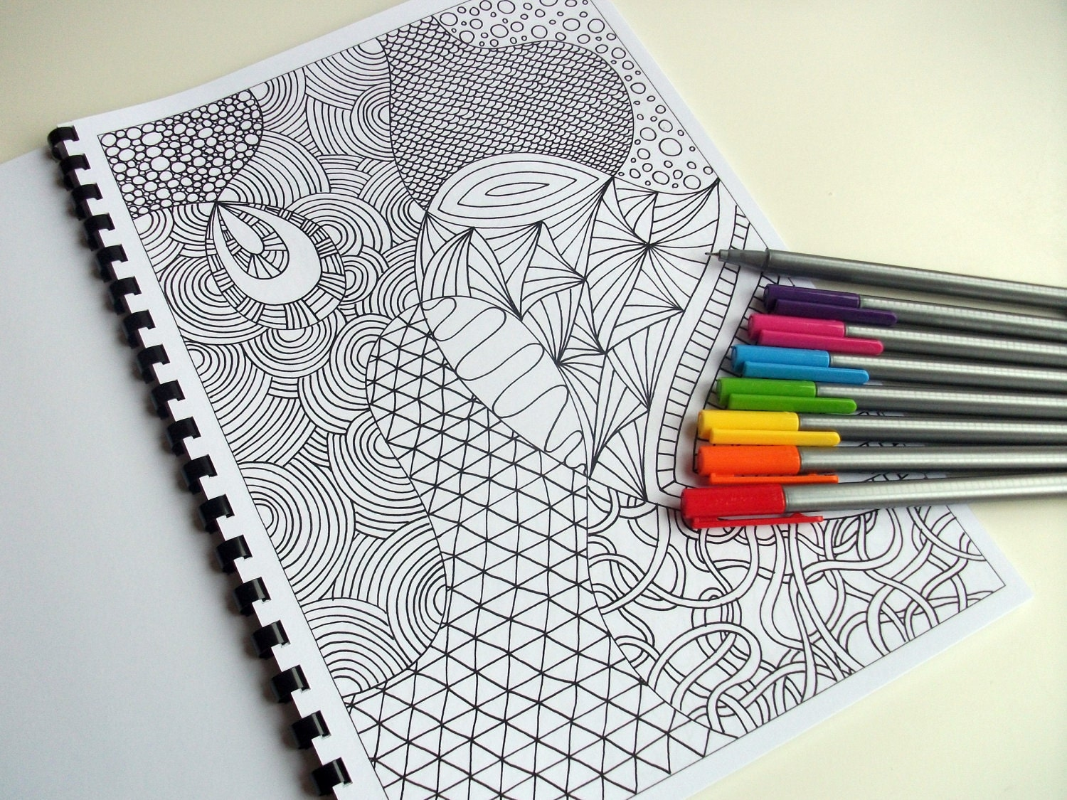 PDF Coloring Book Zentangle Inspired Printable INSTANT
