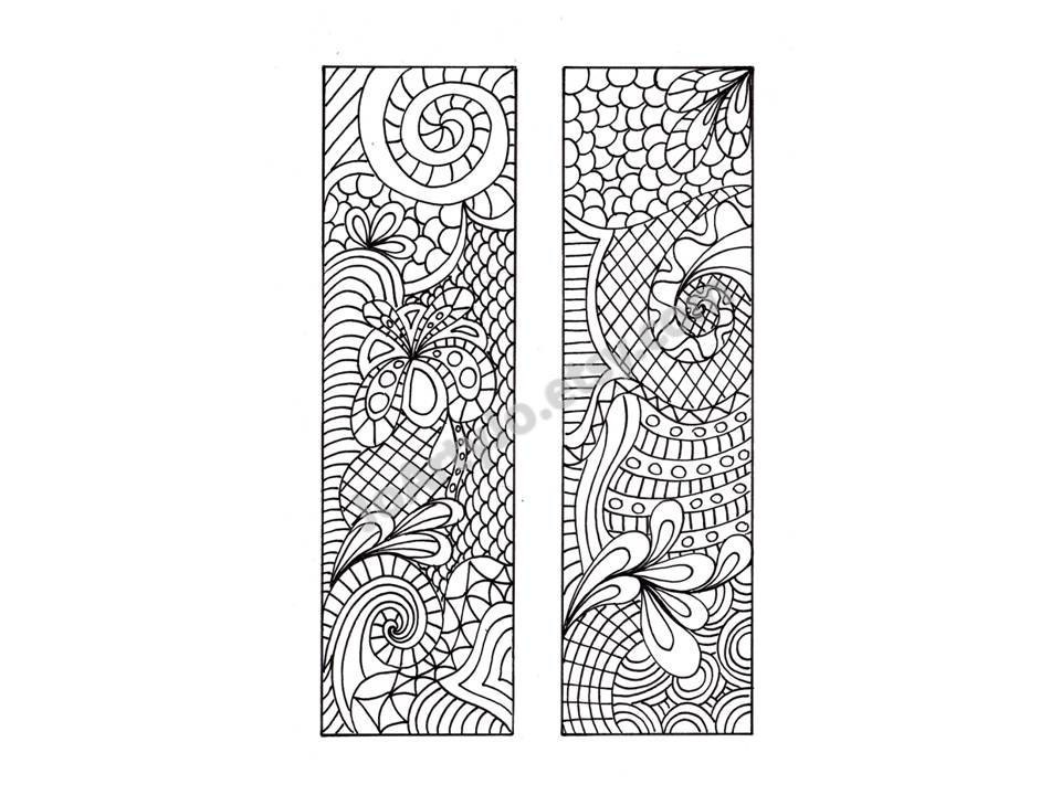 DIY Bookmarks Zentangle Inspired To Print And