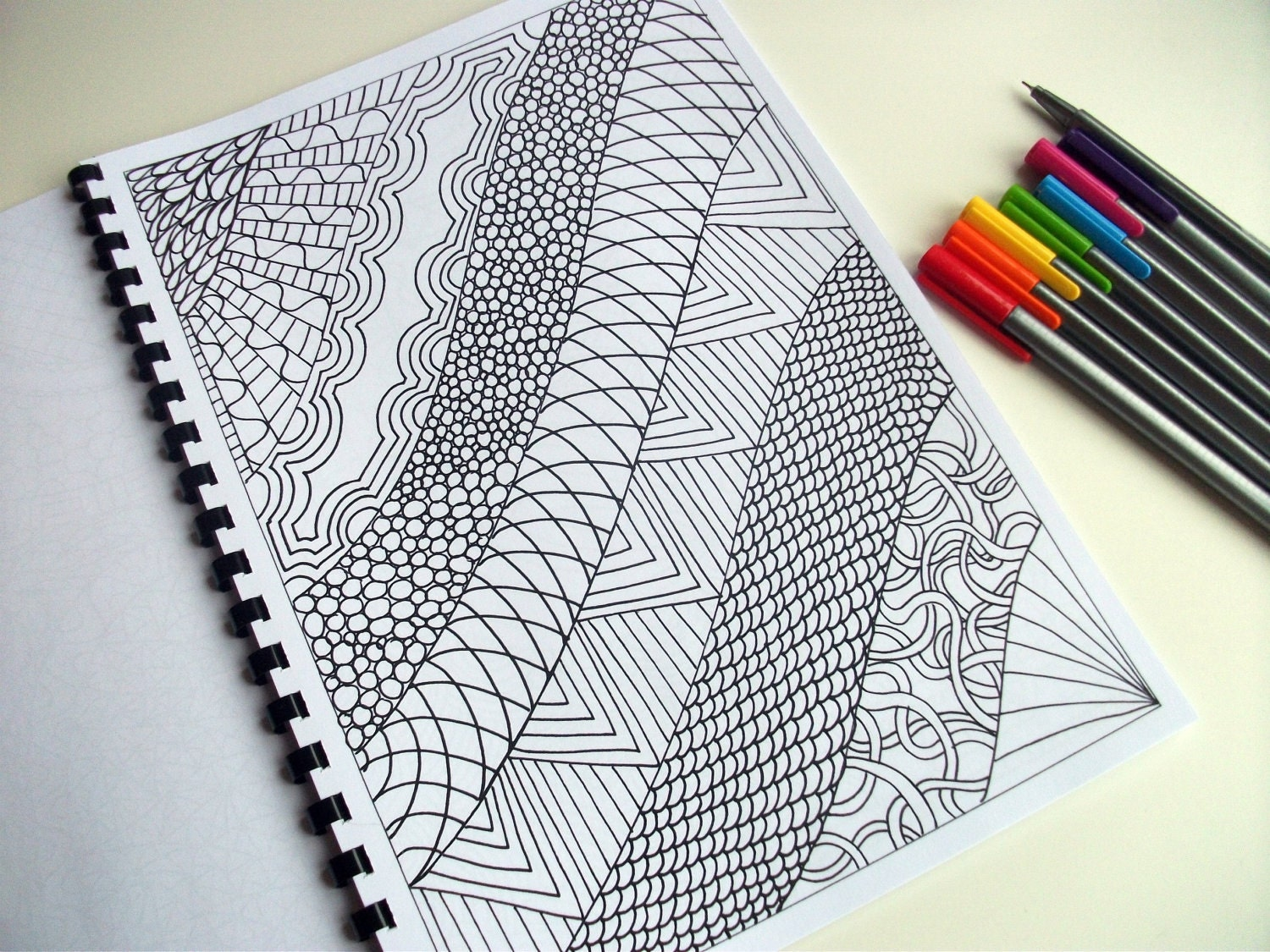 Abstract Art Coloring Pattern Zentangle Inspired Printable