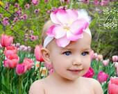 Marvelous Magnolia Pink & White Headband