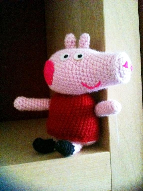 Amigurumi Peppa Pig Mini : Items similar to Amigurumi Pig Crochet Pattern (Inspired ...