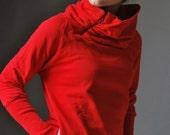 Red Sweatshirt SUN Women sweater /   Gift for her / women fashion