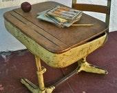 Vintage Norman Bel Geddes Streamline One Piece School Desk With Swivel Chair 1940s - sweetladyjune