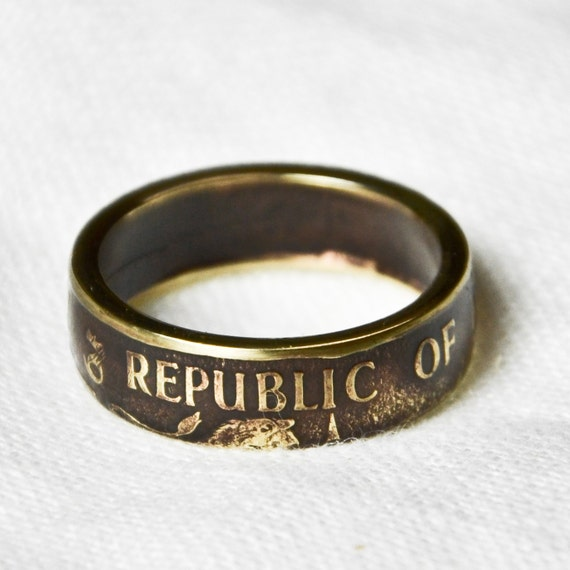 Coin Ring - Kenya - 10 Cents - Size 10 3/4