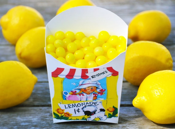 Lemonade Stand Party Favors, Birthday Party Favors, GLAMOROUS SWEET EVENTS