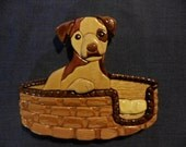 Puppy In A Basket Intarsia