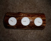 Natural Wood Votive Candle Holder