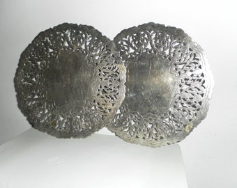 Pair Vintage SILVERPLATE TRIVETS from DENMARK