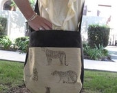 Cross Body Tote Purse - Tiger