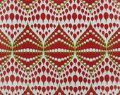 Custom Rod Pocket Curtains-Pair-Koil Lipstick, Chartreuse