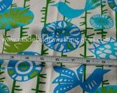 Custom Rod Pocket Curtains-Pair-Menegarie, Grasshopper Blue, Natural