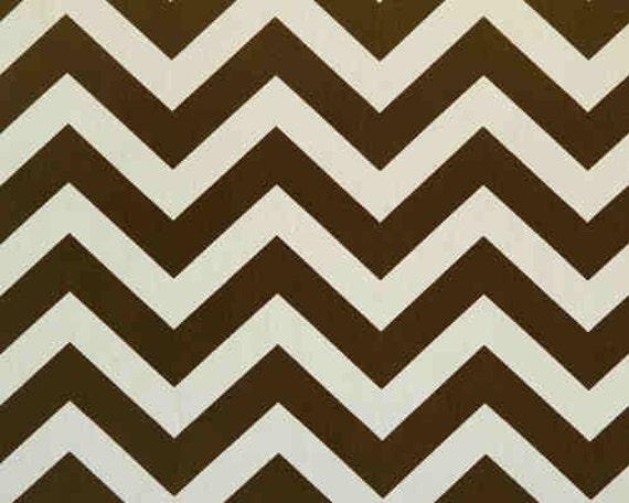 Custom Rod Pocket Curtains-Pair-Zig Zag, Brown, Natural