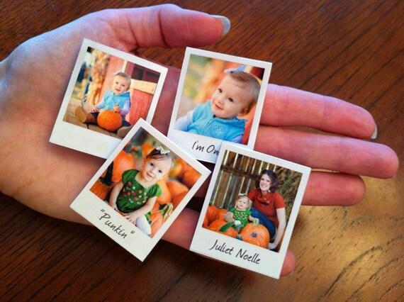 20 Mini Custom Polaroid Photo Magnets For Your Fridge