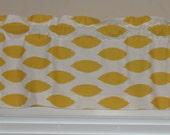 """Chipper Slub Corn Yellow Ikat Valance 52"""" wide x 16"""" long Yellow and White"""