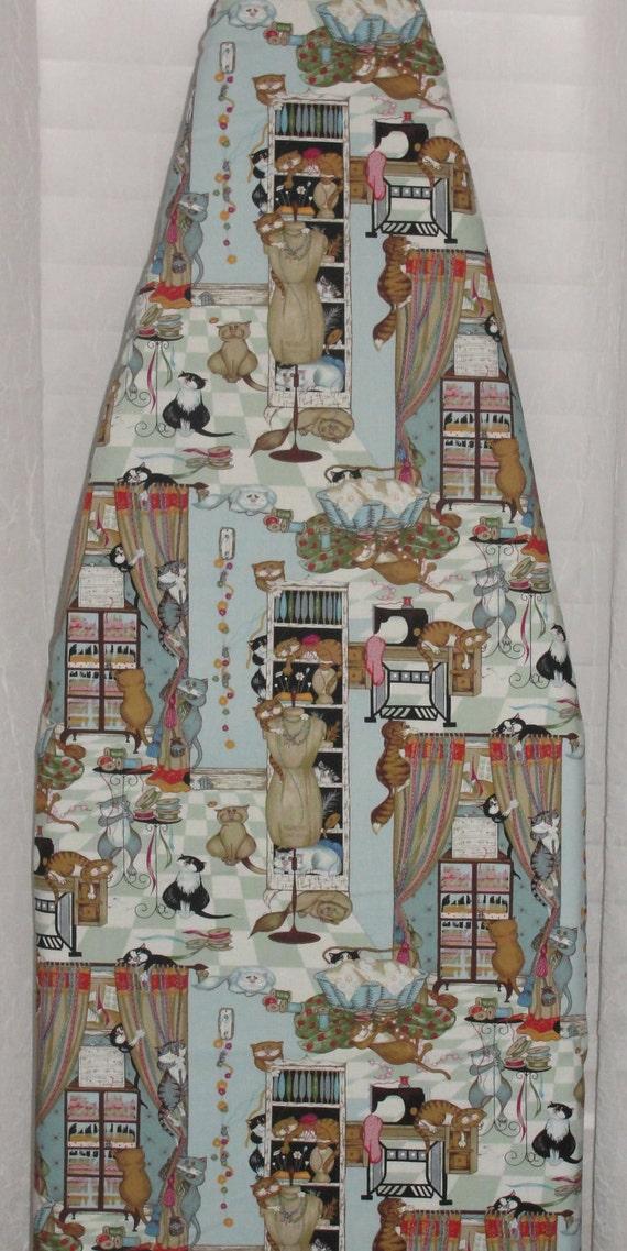 Designer Ironing Board Cover Decorative Robert Kaufman Kitty