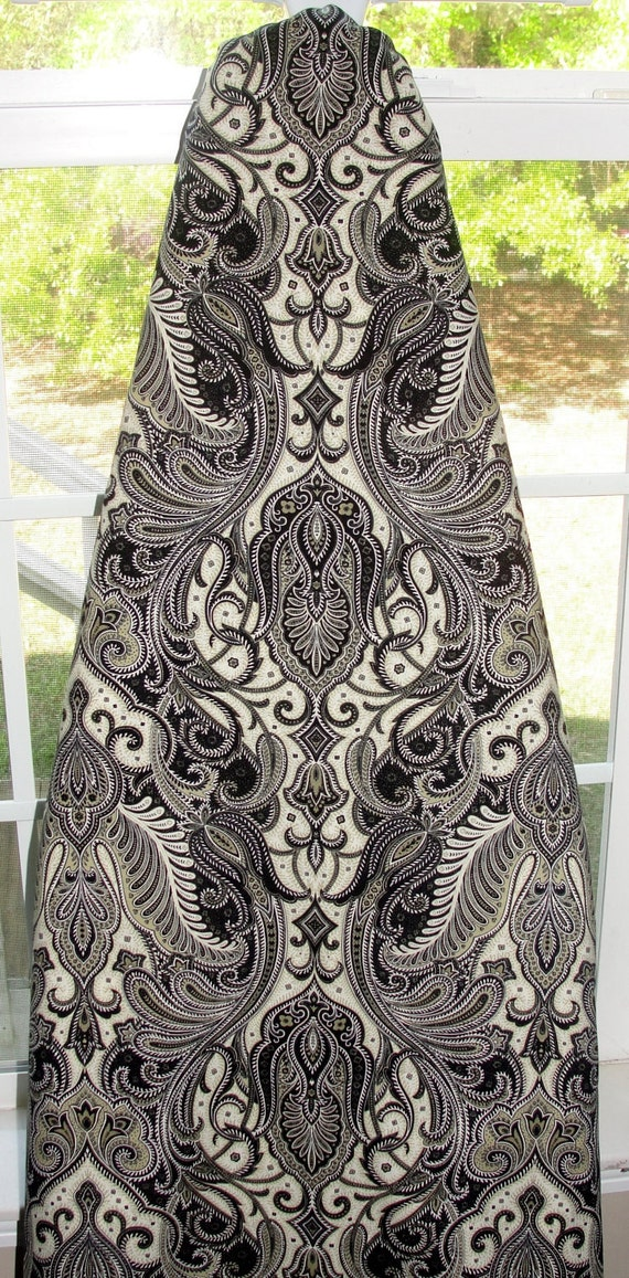 Decorative Ironing Board Cover Paisley Print With Black Cream