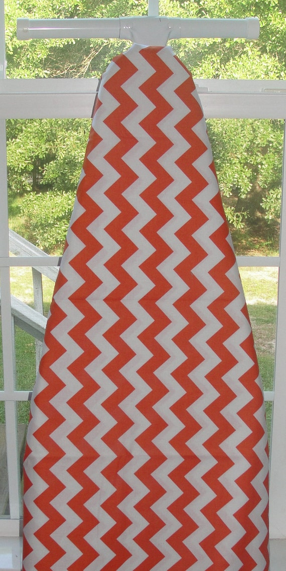 Designer Decorative Ironing Board Cover Chevron Orange and White by Riley Blake
