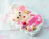 READY TO SHIP Rilakkuma Whipped Cream Decoden case for a Blackberry Curve 8520 / 9300