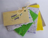 Gift Tag: Make Your Own, Eco Friendly, handmade papers, colourful natural tones, textured