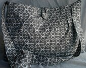 Ikat My Soul. Gorgeous Grey Cotton Fabric Tote