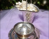 Silver plate candy dish