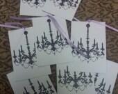 Black chandeliar tags, applique..Qty 12pcs.