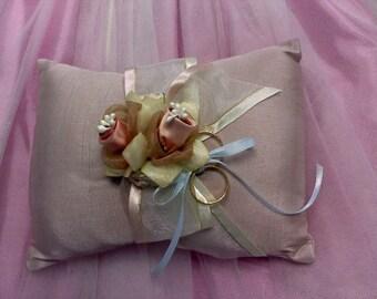 mauve victorian ring pillow
