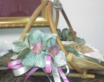 restyled vintage flowergirl basket