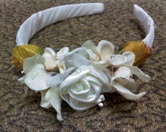 flowergirl ivory floral headband