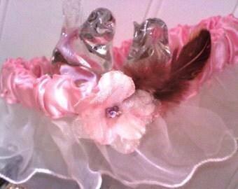 Pretty in pink garter