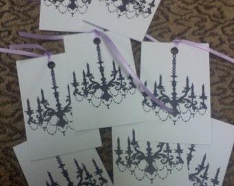 Black chandeliar tags, applique..Qty 24pcs.