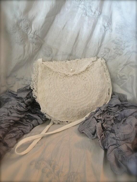 Vintage white lace bag