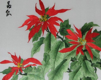 chinese art,hand made silk embroidery  flower,home decor