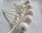 Wedding Favors: Premium Wedding Cake Pops Made to Order with High Quality Ingredients - TheSweetSource